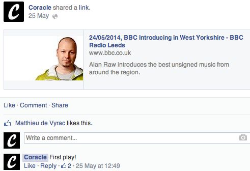First ever play on BBC Introducing!