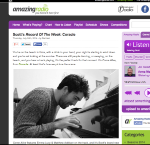 Record of the Week on Amazing Radio