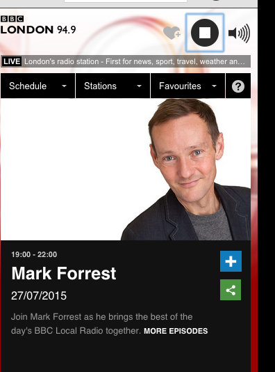 Sun's Coming played across the UK by Mark Forrest!